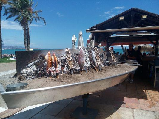 Piatto tipico della Costa del Sol: El Espeto