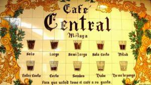 Come vengono chiamati i caffe a Malaga