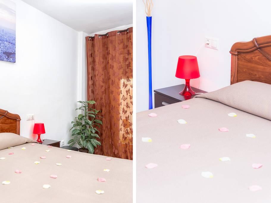 Camera da letto del bellissimo appartamento in vendita a Malaga