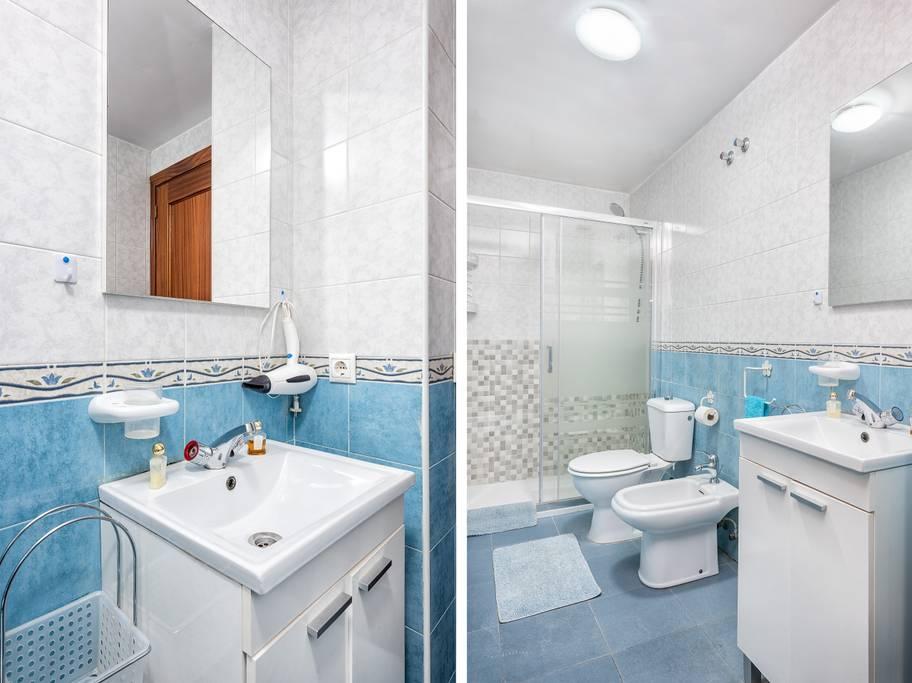 Bagno del bellissimo appartamento in vendita a Malaga